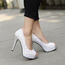 Novos sapatos de salto alto sandálias de dedo aberto rendas sapatos banquete das mulheres personalizar plus size pequenos estaleiros 32 33 41 42 43 44 sapatos clube(China (Mainland))