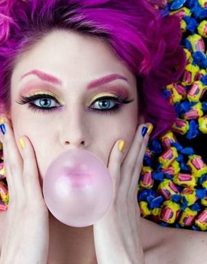 Double Bubble Trouble girly photography beautiful pink makeup bubble gum cosmetics make-up makeup ideas makeup tips