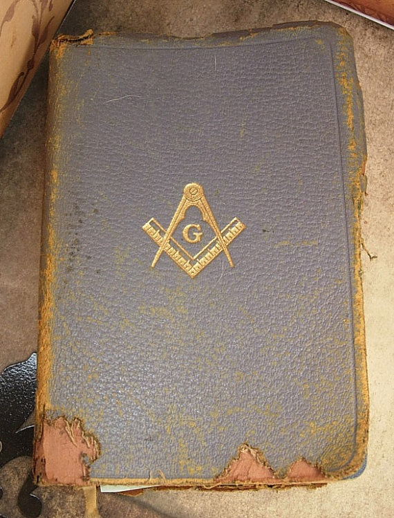 1940 vintage masonic bible with  negatives and by vintagesparkles, $20.00