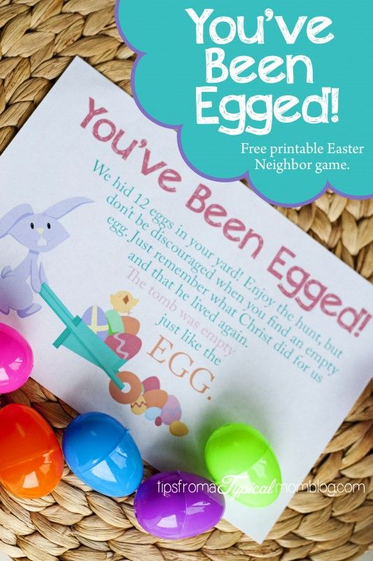 23 best youve been egged images on pinterest easter ideas youve been egged free printable neighbor easter game negle Image collections