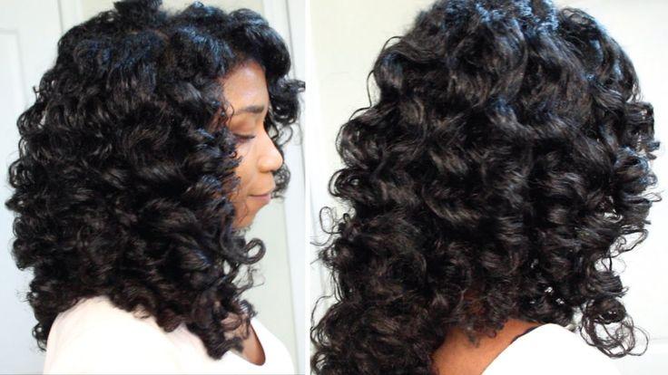 How To Cheat A Perm Rod Set | EASY Technique Heatless Soft Curls - Naptu...