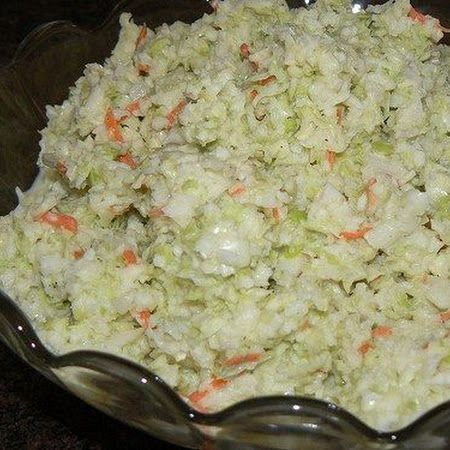 KFC COLE SLAW Recipe | Key Ingredient Ingredients ½ Cup Mayonnaise (Hellman's is best) ⅓ Cup Sugar ¼ Cup Milk ¼ Cup Buttermilk 2½ TBS. Lemon Juice 1½ TBS. White Vinegar ½ tsp. Salt ⅛ tsp. Pepper 8 Cups Finely Chopped Cabbage ¼ Cup Shredded Carrot 2 TBS. Onion (Optional)