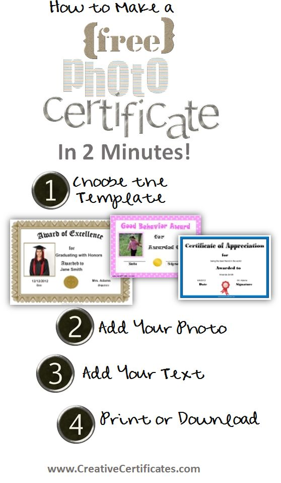 Free certificate maker - make your own personalized certificates in 2 minutes - no registration required!