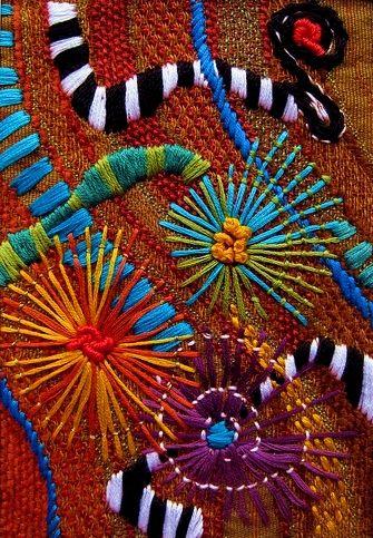 Jacque Davis freeform embroidery . . . what fun!