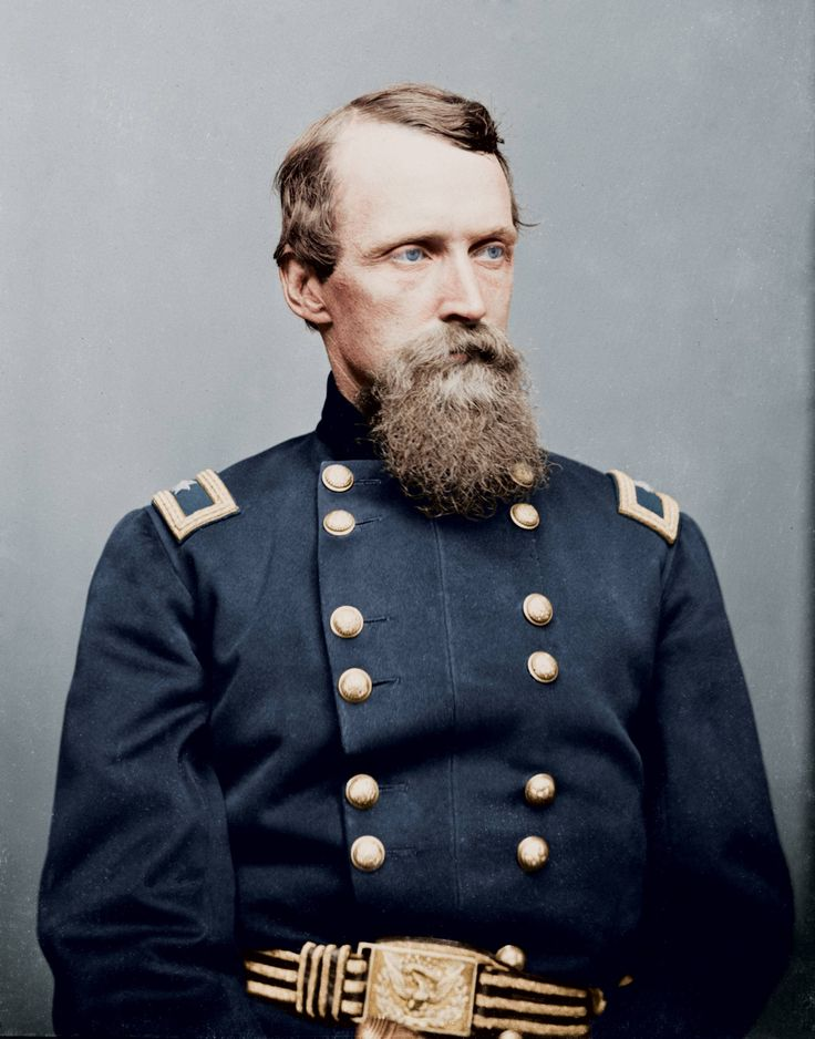 Major General of the Union Army, David B. Birney. (Colorized Photo).