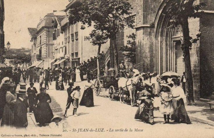 Saint Jean de Luz - Sortie de messe