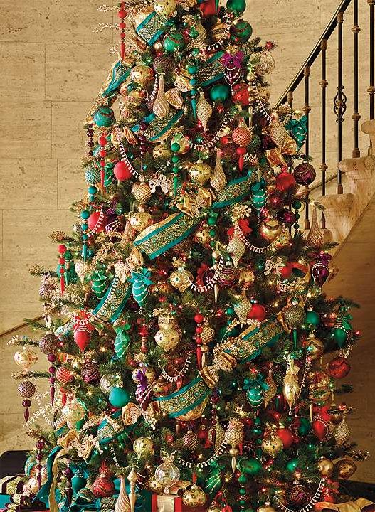 a richly imagined jewel toned new way to experience christmas tree lights - Jewel Colored Christmas Decorations