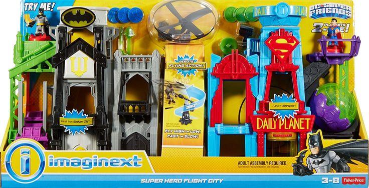Amazon.com: Fisher-Price Imaginext DC Super Friends Super Hero Flight City: Toys & Games