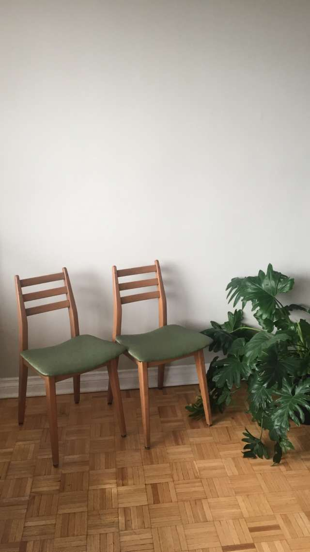 Two Cute Green Teak Chairs by Todd Bolton (unofficialcowboy) on Bunz