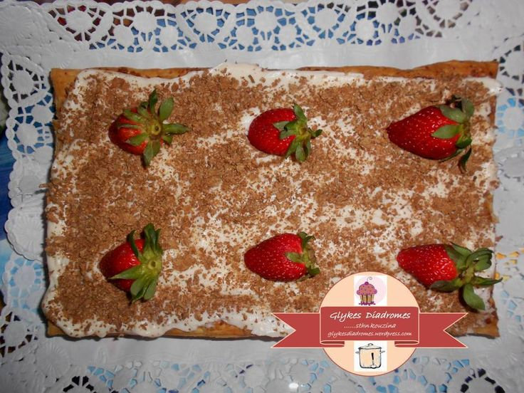 Strawberry millefeuille / glykesdiadromes.wordpress.com