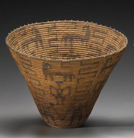 A Pima beaded basket