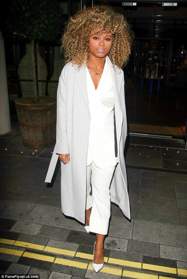 Minimalist: Fleur East looked chic as she attended a listening party for her debut album o...