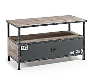 Mueble de Tv en madera de abeto y metal