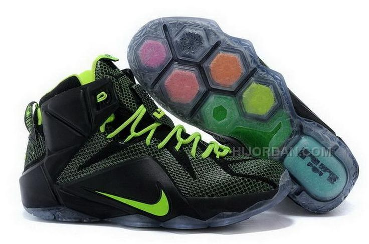 Buy 2015 Cheap Nike LeBron 12 Black Volt Mens Basketball Shoes Online Sale  from Reliable 2015 Cheap Nike LeBron 12 Black Volt Mens Basketball Shoes  Online ...