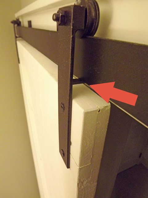 barn door track how to- for future mudroom closet