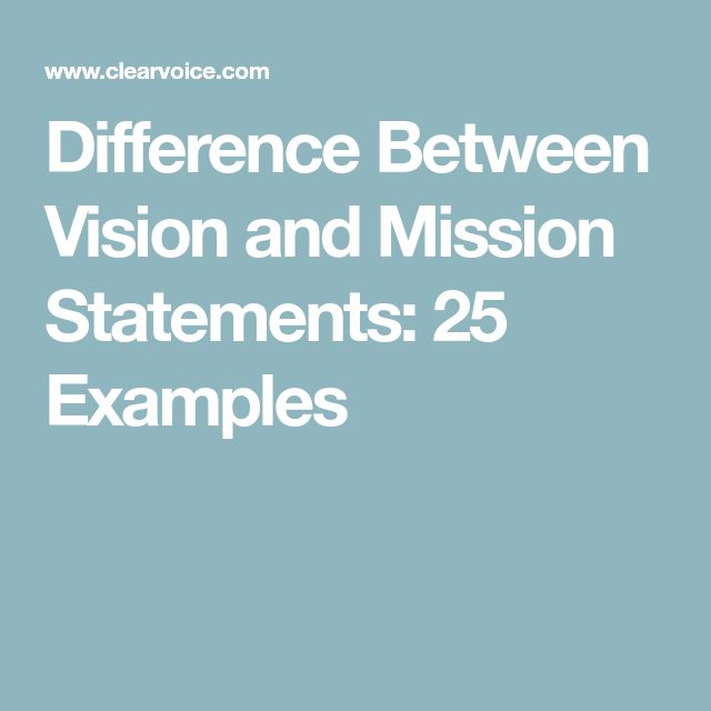 Best 25+ Vision and mission examples ideas on Pinterest Mission - statement form example