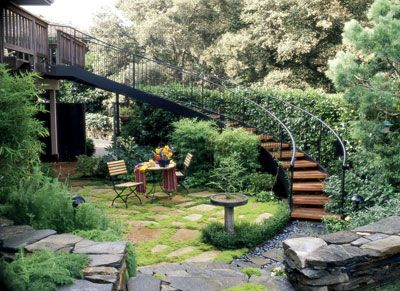 stairway to heavenGardens Ideas, Cottages Gardens, Cottages Outdoor Stairs, Side Yards, Front Yards, Gardens Design, Fish Ponds, Landscapes Design, Gardens Stairs
