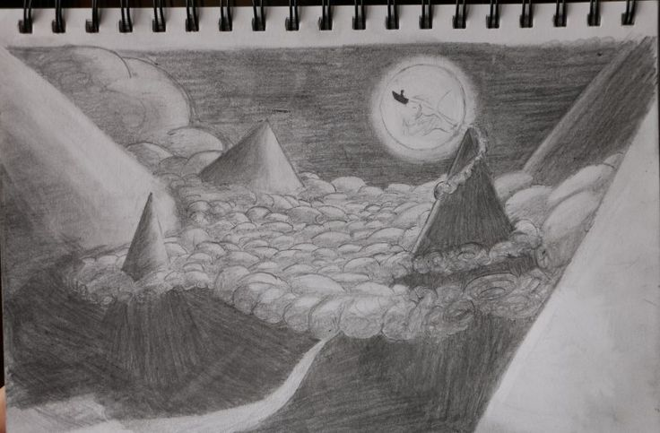Abstract Pencil Drawing Landscape
