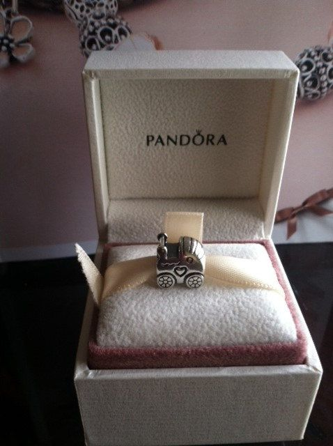 Authentic Pandora Charm  BABY STROLLER Charm For Bracelet with box Baby shower on Etsy, $22.93 AUD