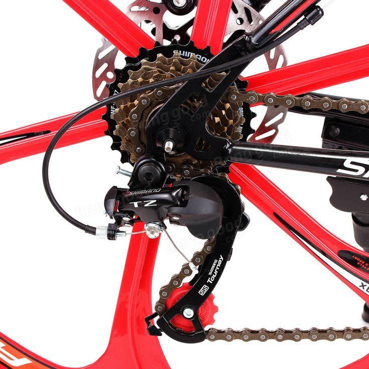 26 X 17inch VTT châssis en acier 21 haute vitesse de carbone vélo amortissement vélo vélo Vente - Banggood.com
