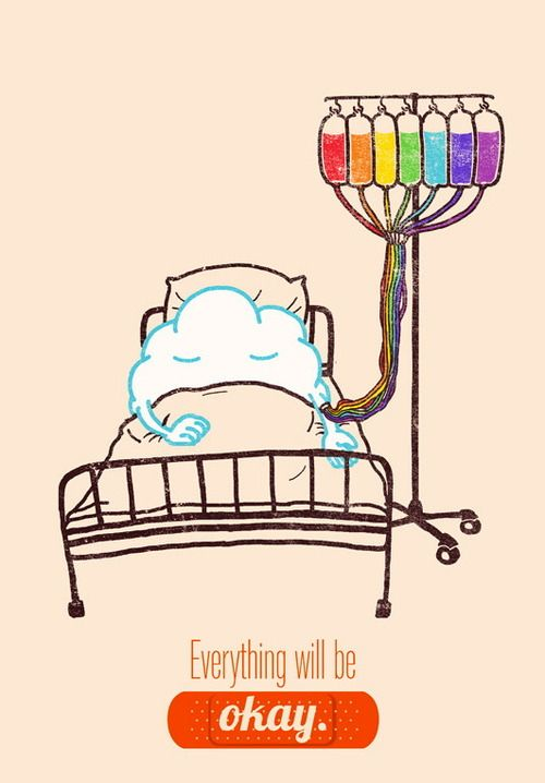 I think this speaks for it's self. This is so beautiful! Next time I'm laying in a hospital bed I want to be hooked up to an IV of rainbow colors. Lol
