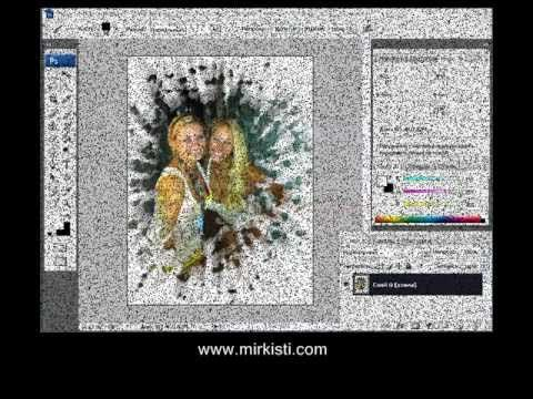 Дизайн иконки, разбитое стекло и другие видео уроки по фотошопу