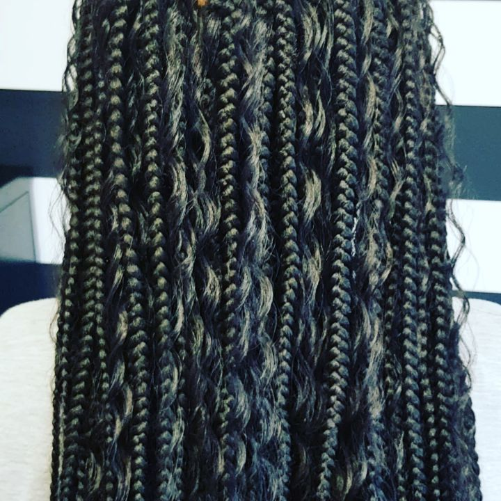 "Ebz on Instagram: ""Bohemian Goddess Braids . . . #braidslondon #boxbraidslondo…   – Natural hairstyles"