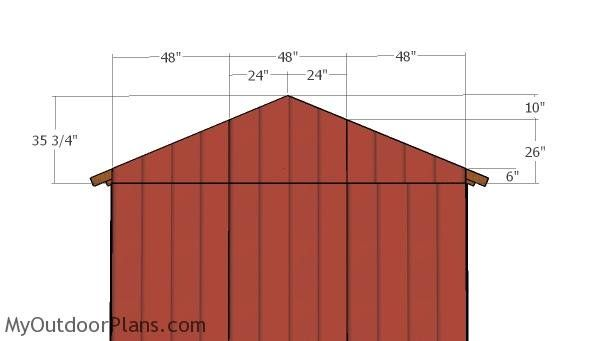 12x12 Shed With Porch Roof Plans Myoutdoorplans Free Woodworking Plans And Projects Diy Shed Wooden Playhouse In 2020 Porch Roof Plans Shed With Porch Roof Plan