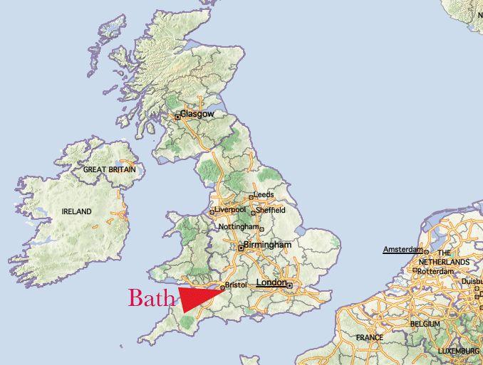 Bath On Map Bath England Map | aeropilatesleon Bath On Map