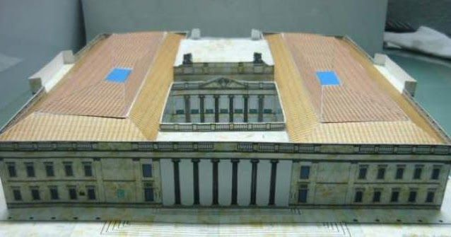 This beautiful paper model of the Capitolio Nacional De Colombia  was created by designer and modeler Elver Balcázar . The model occupies ...