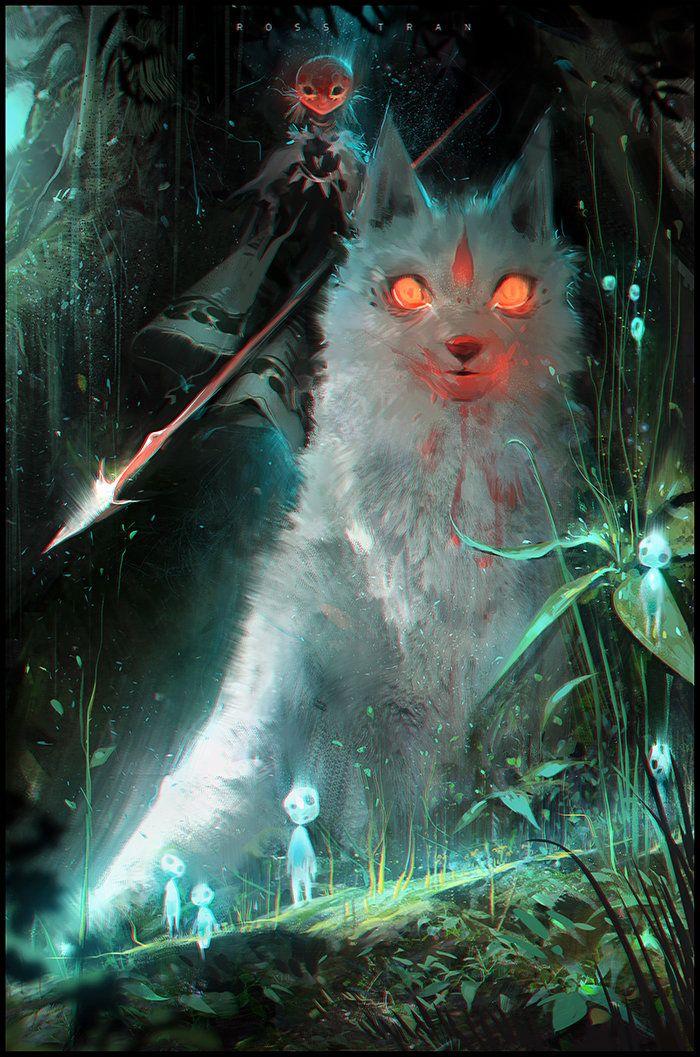 Princess Mononoke, Ross Tran on ArtStation at https://www.artstation.com/artwork/princess-mononoke-258255ec-ef4f-42d9-b878-3edffad7a3e4