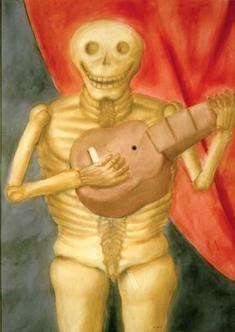 TICMUSart: La muerte tocando guitarra - Fernando Botero (1982) (I.M.)