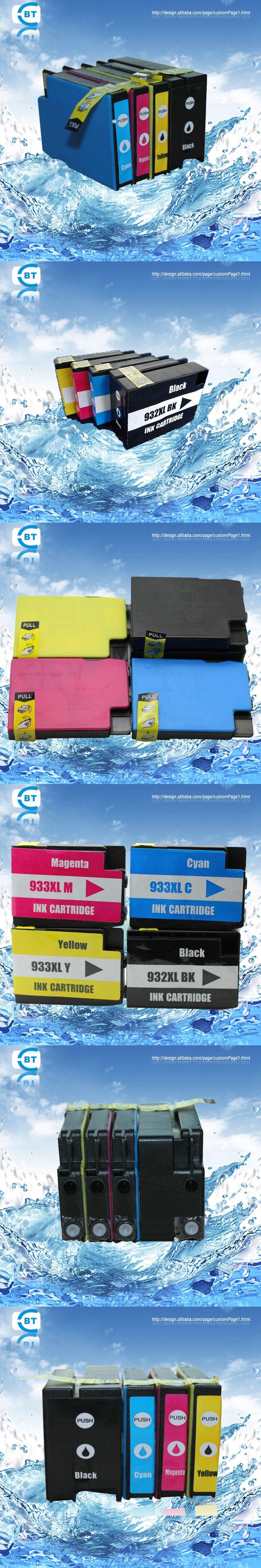 4pcs Compatible hp 932 933 932XL 933XL  ink cartridge for HP Officejet 6100 7610 7510 7512 7110 7612 printer
