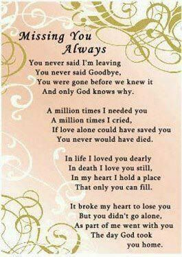 Missing you always ..... No matter how many months have gone by, you were my momma my amazing friend, but I know I will see you again and your with our Father now in Heaven!! Love ya always your daughter always Sherry