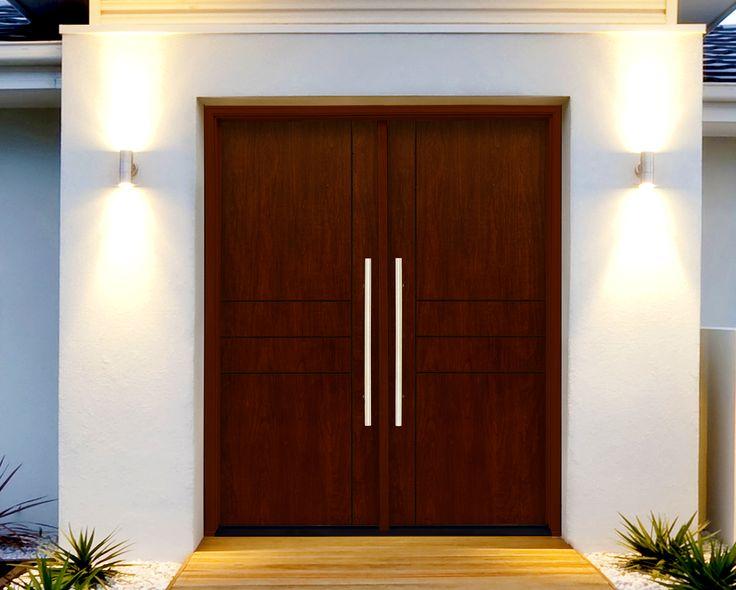 MasterGrain's Contemporary C538 Double Doors. #MasterGrain #Contemporary #Modern #Premium #Fiberglass #Doors #CNC