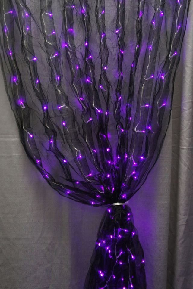 bracelet trends 2014 Black fabric sash and purple LED lights together makes for one really cool decoration