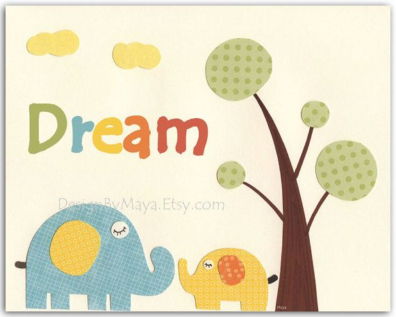 Kids wall art decor Nursery art prints Baby Room by DesignByMaya