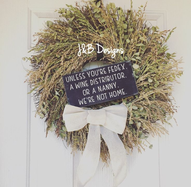Unless you're FedEx, a wine distributor, or a baby, we're not home. by JandBDesignsAZ on Etsy