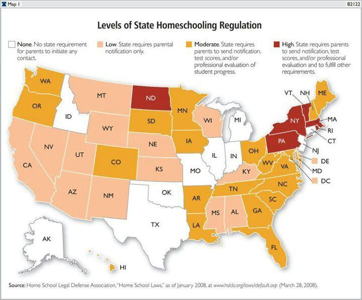Homeschooling Regulation by State - ever so thankful for growing up under PA's rules. I have a state issued high school diploma, which is hard to come by in the homeschooling world and it makes life so much easier. Besides a much better education.