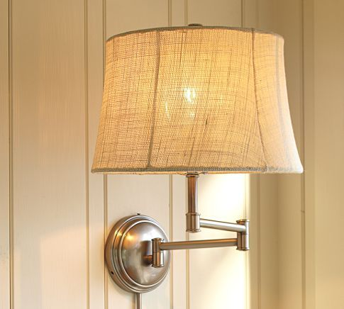 sconces are a great addition to bedside- frees up space on your bedside table.