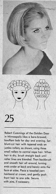 How to set hair for - the bouffont bob1969