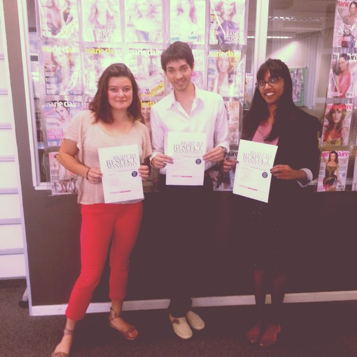 Our interns signed our #MCRespect pledge. http://www.marieclairvoyant.com/category/right-to-respect