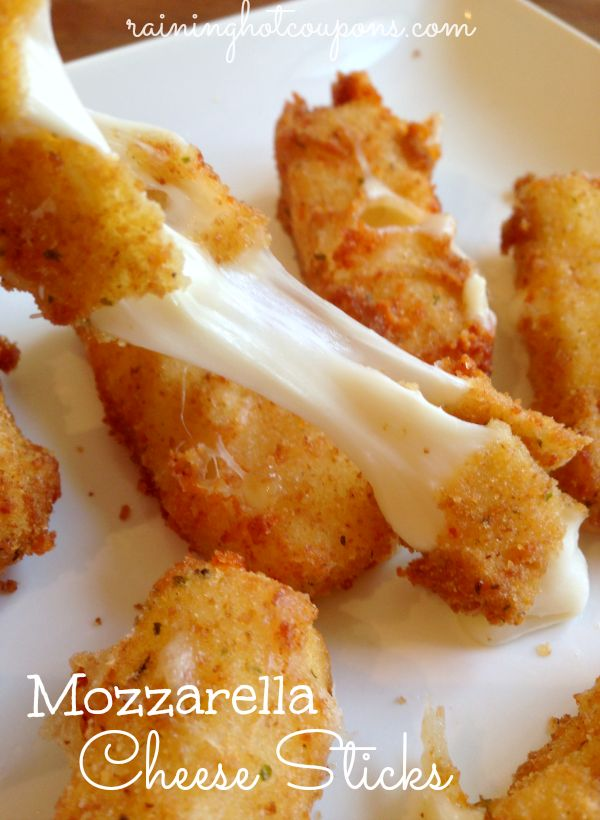 Homemade Mozzarella Cheese Sticks. Baked, not fried. We make these often. Everyone devours them!!