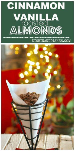 Cinnamon Vanilla Almonds - SUPER easy and make great snack gifts to give away for Christmas! Also REALLY wonderful on salads! #FallFest #RoastedAlmonds #Recipe #VanillaAlmonds #CinnamonVanillaAlmonds