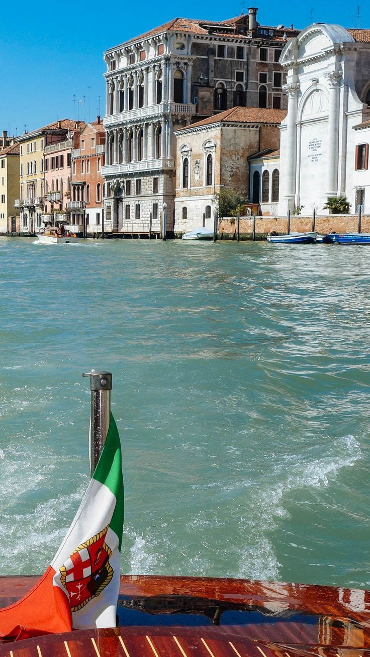 Take a water taxi out to Piazza San Marco in Venice to see all of the beautiful homes and palaces along the Grand Canal. See more about Italy on thetastesf.com #boat #venice #style #gondola #museum #hotel #travel #food #italy #thetastesf