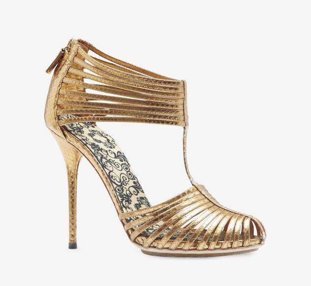 Gucci Bronze Sandal vavoom