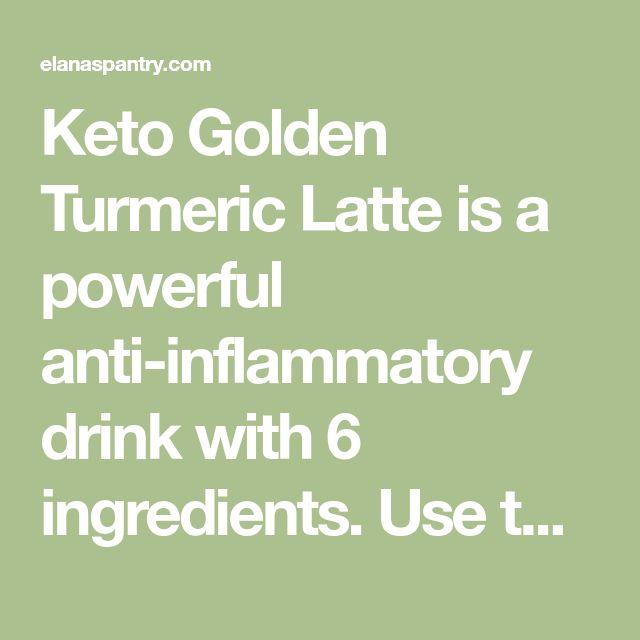 Keto Golden Turmeric Latte