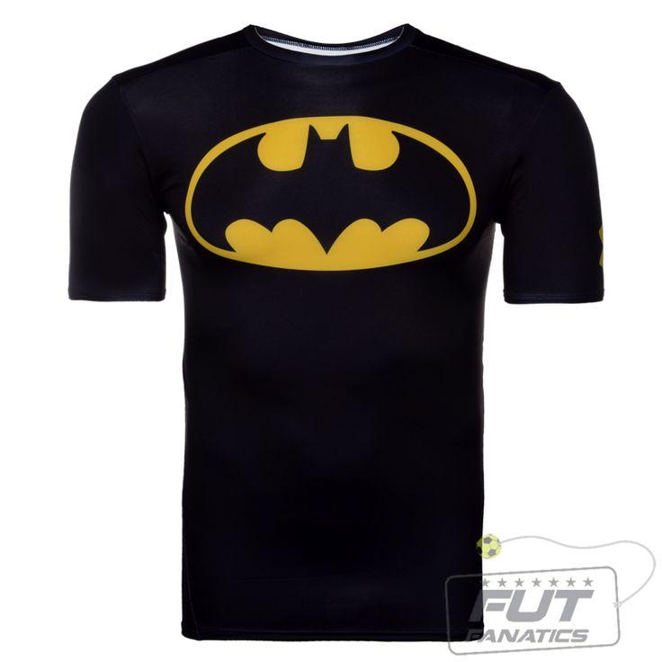 Camisa Compressão Under Armour Batman Black - FutFanatics