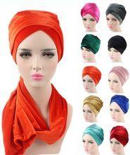 НОВЫЕ Моды для женщин Роскошные плиссе бархат Тюрбан хиджаб Обернуть Голову Удлиненная трубка индийский Тюрбан Шарф Галстук(China (Mainland))