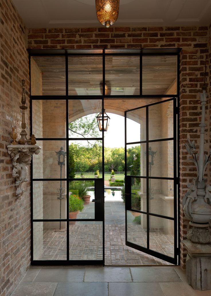 Portella architect series doors windows steel doors - Black metal french doors exterior ...